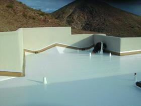 White Membrane Roof Installation - Lake Havasu City Residence