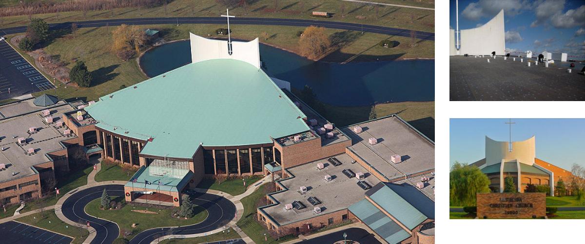 White Membrane Flat Roof - Bethesda Christian Church